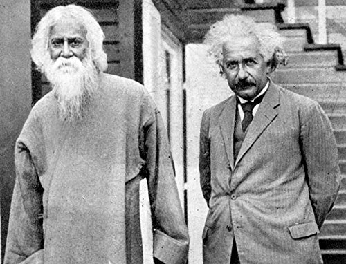 Rabindranath Tagore with Albert Einstein, Photo Print