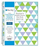 "Blue Sky 2017-2018 Academic Year Teachers Plan Book, Twin-Wire Bound, Geo Cover, 8.5"" x 11"""