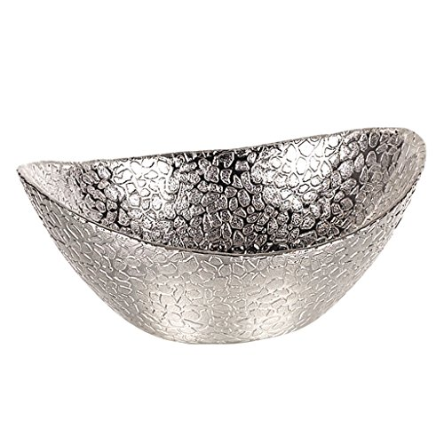 [Badash Silver Snakeskin Oval 6-Inch Bowl] (Small Oval Bowl)