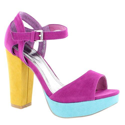 Footwear Sensation - punta abierta mujer Turquesa - turquesa