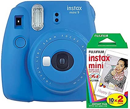Fujifilm Instax Mini 9 Instant Camera Cobalt Blue With Film Twin Pack Bundle 2 Items Electronics