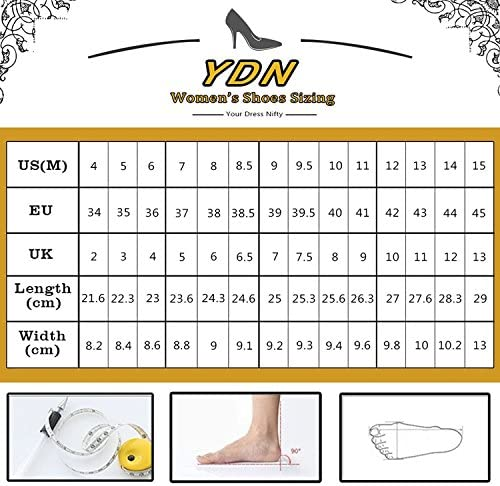 YDN Women Thin Mid Heels Sandals Buckle up Kitten Pumps Ankle Strap Summer Shoes 5