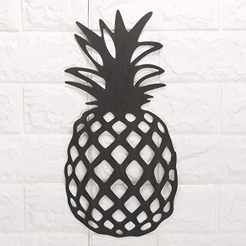 - Pineapple Rustic Metal Wall Art Decor-Tropical Wall Sculpture for Kitchen, Bedroom, Living Room