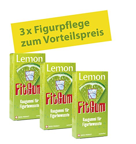 BADERs Lemon FitGum, the chewing gum for dieters. With L-Carnitine to support your diet. Sugar free + tooth friendly. Value pack 3 x 16 piece. Pharmaceutical registration number 10132004 by Ralf BADER Dieters Gum