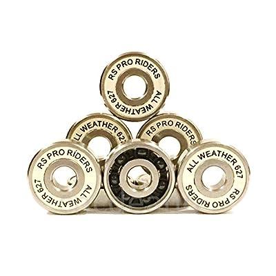 16x tous les temps Roulements en céramique 8pcs & S/S Abec 9(7x 22x 7mm) 627Skate Roller Derby de hockey