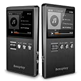 Lossless MP3 Player, HiFi Audio Player, Bassplay P5000 DAP Hi Res Music Player for Sports, 25 Hours Playback, Expandable to 128GB Storage (No Internal Memory No Card)