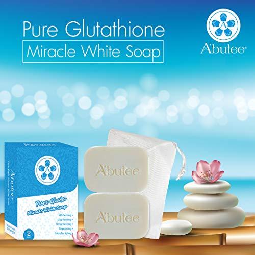 A'butee Pure Gluta Miracle White Soap-Natural Skin Whitening-Lightening-Brightening-Repairing-Moisturizing (Pure -