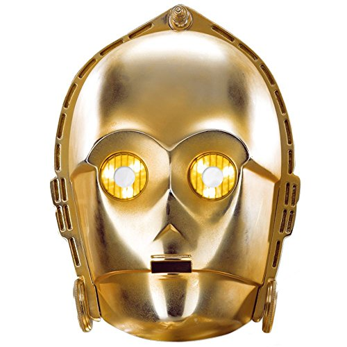 [Star Wars Characters Maskarade 2D Card Party Mask C3PO] (C3po Mask)