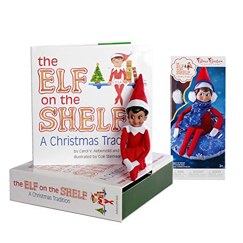 The Elf on the Shelf: A Christmas Tradition Girl Scout Elf (Brown Eyed) with Claus Couture Collection Totally Tubular Snow Set ()