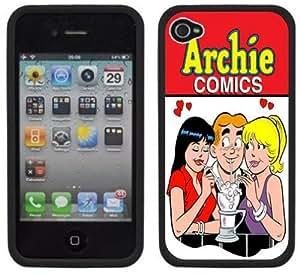 Archie Comics Handmade iPhone 4 4S Black Hard Plastic Case