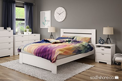 Bedroom South Shore Reevo 4-Drawer Chest Pure White, Contemporary