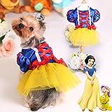 Small Pet Apparel Teddy Dog Clothes Princess Puppy Dress (S)