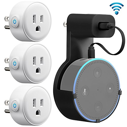 Wifi Smart Plug Mini, GMYLE Smart Home Power Control Socket, Remote Control Your Household Equipment from Everywhere, No Hub Required, Compatible with Amazon Alexa, Echo Dot & Google Home(3 Packs)