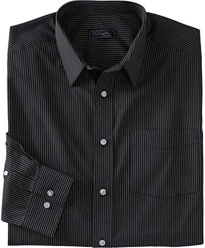 [해외]KS 시그니처 남성용 빅 & 톨 노 번거로움 긴소매 드레스 셔츠 / Kingsize Signature Collection Men`s Big & Tall Kingsize Signature Collection No Hassle Long-Sleeve Dress Shirt, Black Stripe Big-20356