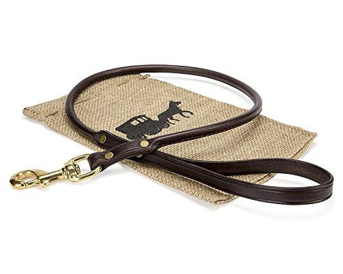 amish-handmade-premium-rolled-burgundy-leather-dog-leash-best-for-medium-and-large-dogs-6-burgundy