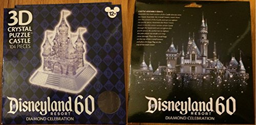 Disneyland Resort 60 Diamond Celebration 3D Crystal Puzzle Castle 104 pieces - New