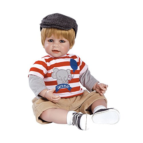 """Adora Toddler Let's Play 20"""" Boy Weighted Doll Gift Set for Children 6+ Huggable Vinyl Cuddly Snuggle Soft Body Toy"""