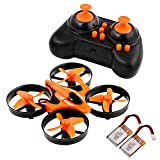 MOONBROOK Model aircraft Mini UFO Quadcopter Drone t2.4G 4CH 6 Axis Headless Mode Remote Control Quadcopter RTF Mode 2 Extra Batteries RC Copter with LED Lights