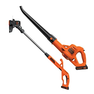BLACK+DECKER LCC221 20V MAX Lithium String Trimmer/Edger Plus Sweeper Combo Kit, 10""