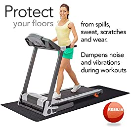 Resilia Heavy-Duty Protective Floor Mat for Exercise Equipment