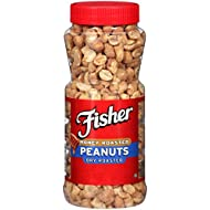 Fisher Snack Honey Roasted Dry Roasted Peanuts, 14 Oz, Gluten Free