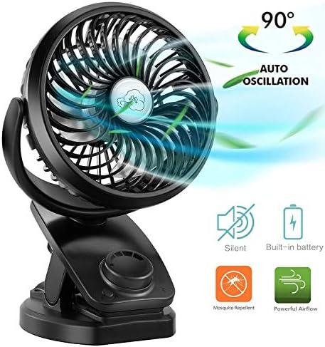 port/átil y Personal para el hogar yla Oficina Silencioso y Potente lo enfr/ía en el Verano Caliente Azul RATEL Ventilador de Mesa USB Ventilador de Escritorio 12.5 cm Use con Cable de 1.2 metros