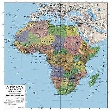 Cartina Geografica Africa Politica.Carta Geografica Doppia Africa 100x140cm Amazon It Giochi E Giocattoli