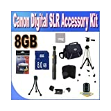 Cheap Canon Digital SLR Camera 8GB SDHC Deluxe Accessory Saver Kit