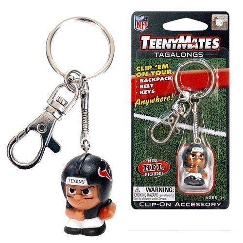 Party Animal NFL Houston Texans Teeny Mates Tag Along Running Back Backpack Clip Keychain