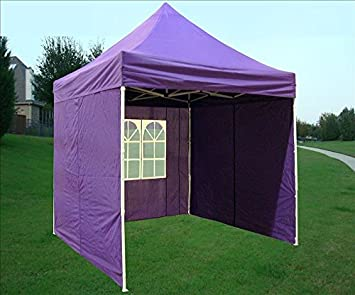8 x8 Pop up 4 Wall Canopy Party Tent Gazebo Ez Purple – By DELTA Canopies