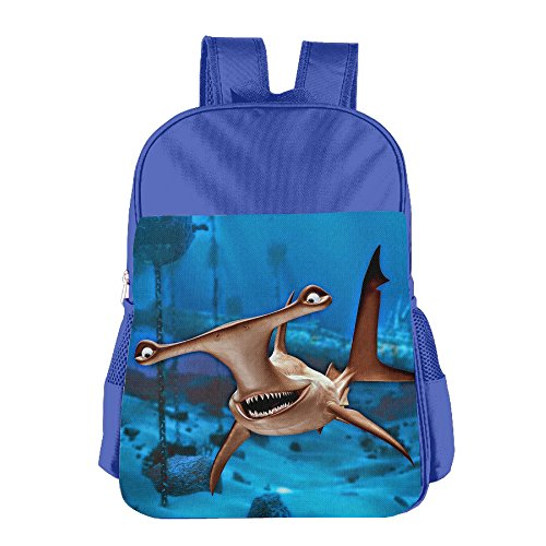 Price comparison product image Funny Hammerhead Sharks Unisex School Backpack Bag Kids Book Bags Outdoor RoyalBlue