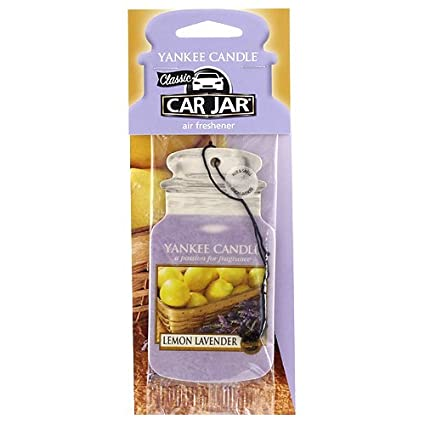 1ecc5049f9e10 Image Unavailable. Image not available for. Color  Yankee Candle Lemon  Lavender Car Jar Air Freshener