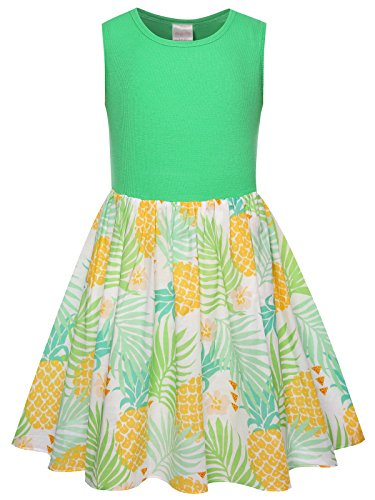 Bonny Billy Girls School Pineapple Cotton Dresses Clothing