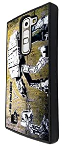548 - Banksy Grafitti Art Robot Star wars Design For Lg G4 Compact / Mini Fashion Trend CASE Back COVER Plastic&Thin Metal
