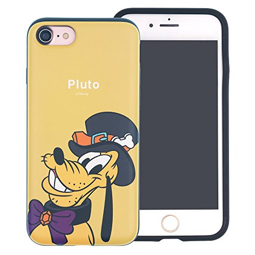 Funda iPhone 6S Plus / iPhone 6 Plus [Protección híbrida contra caídas] DISNEY Linda Doble Capa Hybrid Carcasas [TPU + PC] Parachoques Cubierta [ iPhone 6S Plus / 6 Plus ] - Minnie Mouse Look Down Festival Pluto (iPhone 6S Plus / 6 Plus)
