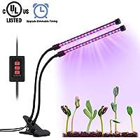 Led Dual-lamp Plant Grow Lights Bulbs Timing Function (3H/6H/12H)