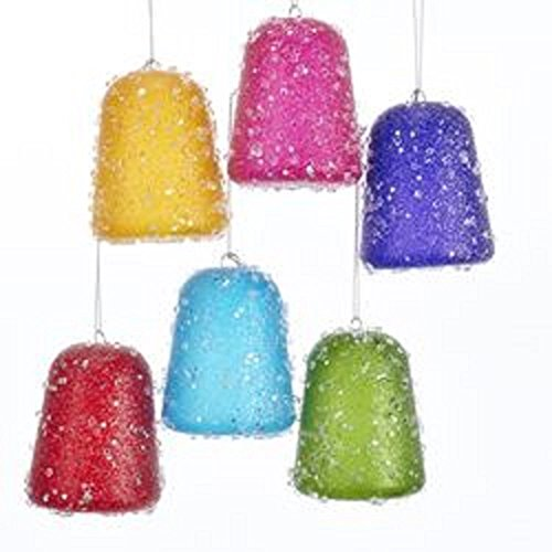 Kurt Adler Glittered Gum Drop Ornament - 6 Assorted Colors