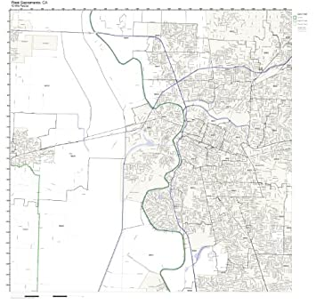 Amazon Com West Sacramento Ca Zip Code Map Not Laminated Home