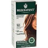 Herbatint Permanent Herbal Haircolour Gel 5D Light Golden Chestnut - 135 ml (Pack of 4)