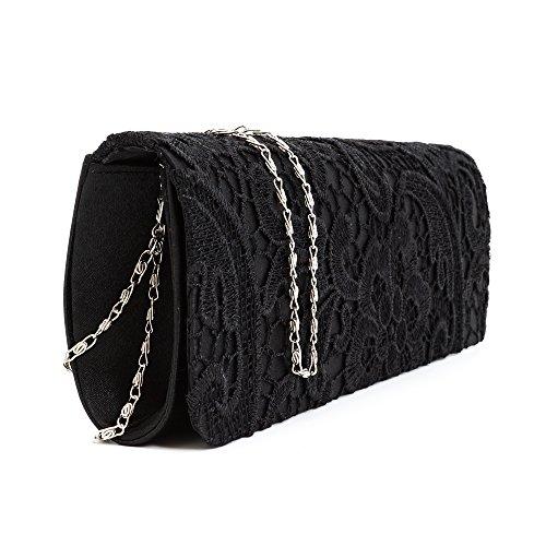 Tedim - Cartera de mano para mujer Varios Colores multicolor Negro - negro