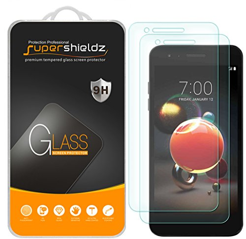 """[2-Pack] Supershieldz for LG """"Aristo 2"""" Tempered Glass Screen Protector, Anti-Scratch, Bubble Free, Lifetime Replacement Warranty"""