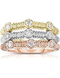 Womens Fine Stacking Rings Amazoncom