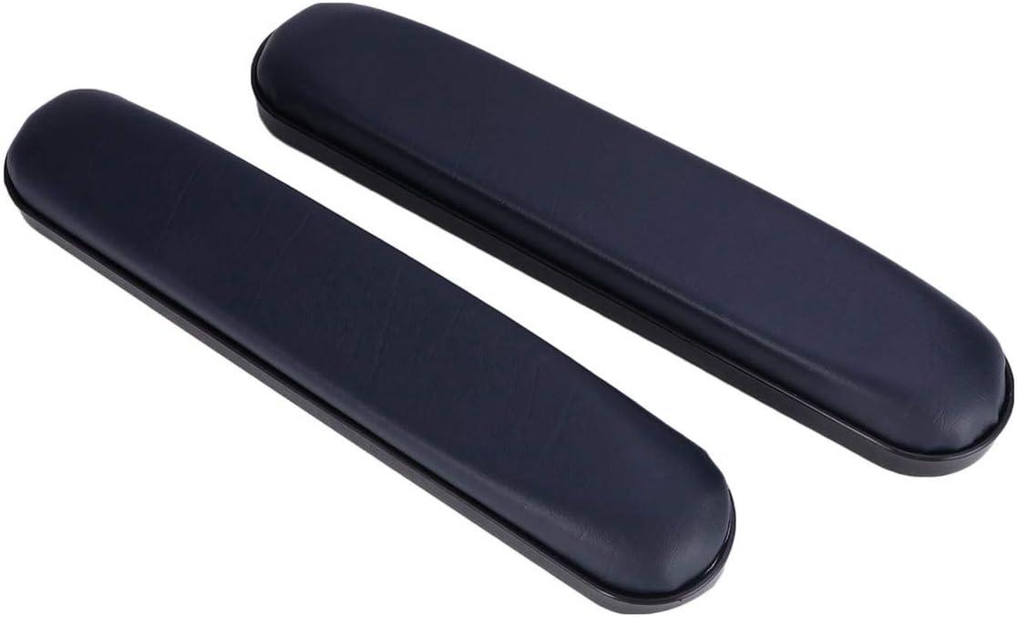 Exceart - 2 reposabrazos acolchados universales de piel de repuesto para silla de ruedas talla 2 Azul 1