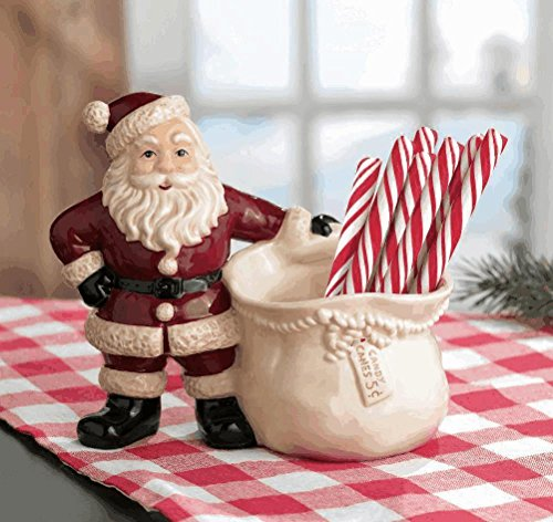 [Grasslands Road Santa Candy Cane Holder] (Santa Candy Cane Holder)