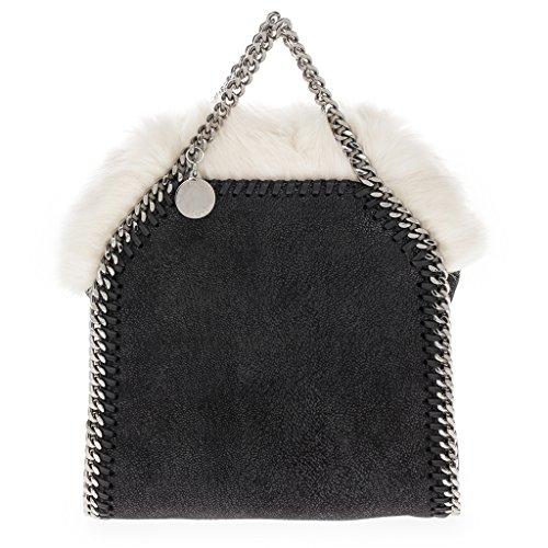 Stella-McCartney-Womens-Mini-Falabella-White-Faux-Fur-Interior-Bag-with-Chain-Strap-Black
