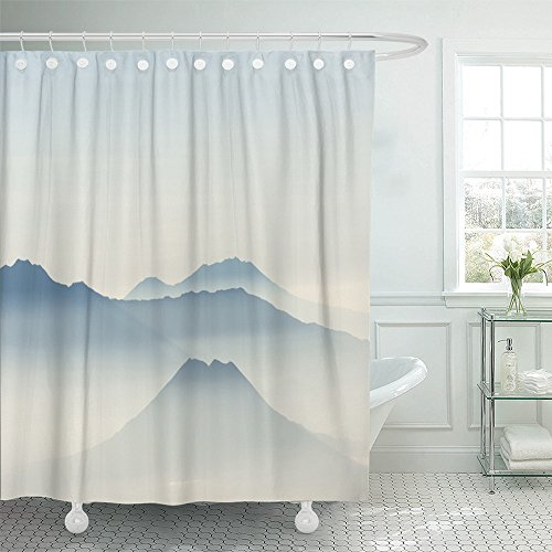 Emvency Bromo Tengger Semeru National Park in East Java Indonesia on Morning Mount Batok Kursi Watangan Waterproof Shower Curtain Curtains 72''X72'' Decorative Bathroom Odorless Eco Friendly by Emvency