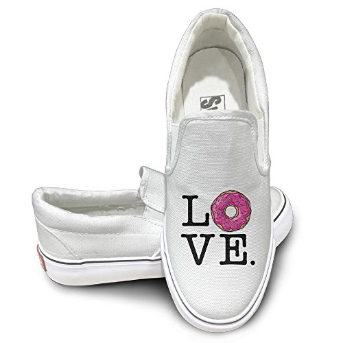 SH-rong Love Dount Unisex Canvas Sneakers Shoes Size 41 White (Sunglasses Luce)