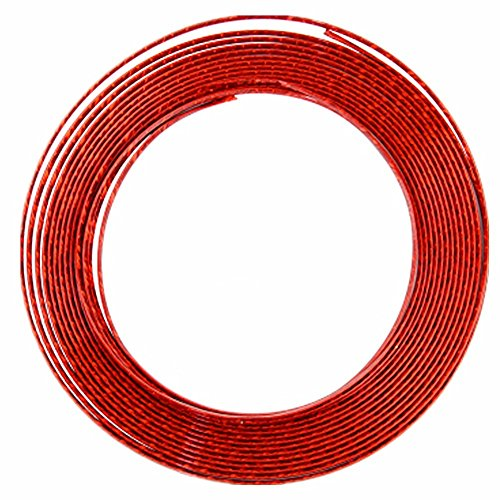 15 Feet Door Front Rear Lip Edge Overlay Molding Guard Protection Decoration Stripe Trim D.I.Y. FIT (Red)