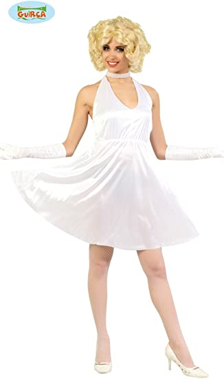 Guirca- Halloween Disfraz Adulto T/42/44 Vestido Blanco, Color ...