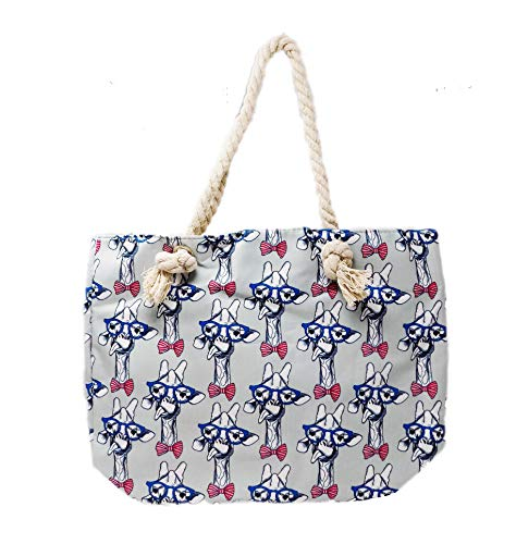 Large Tote Women Girl Handbag Roomy Wallet Rope Handle Bag Fashion Travel Shoulder Cute Fun Hobo (Silly ()